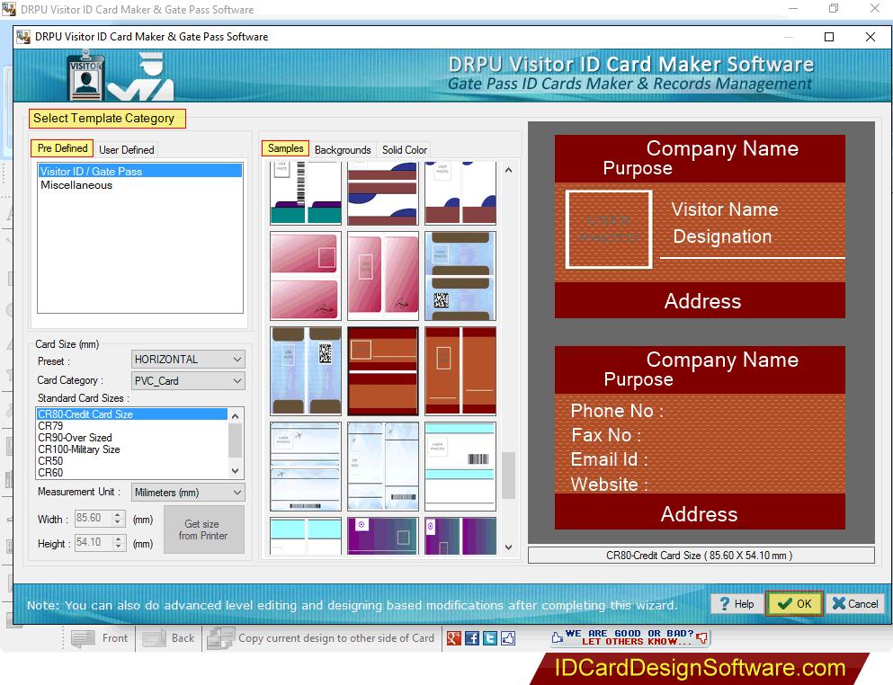 Gate Pass ID Cards Maker & Visitors Management Software design ...