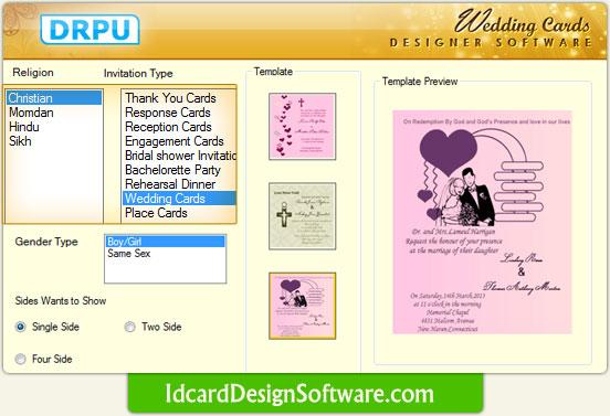 Software Wedding Invitations: Wedding Card Design Software To Make Wedding Invitation